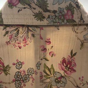Nine West Jackets & Coats - Nine West Weekend Cotton Denim Floral Crop Jacket